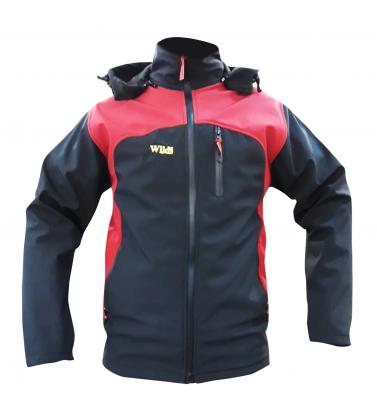 SOFT GEL BLACK-CLARET RED COAT