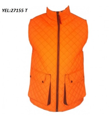 SLEEVELESS ONE SIDED QUILTED VEST