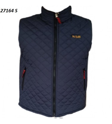 SLEEVELESS DOUBLE-SIDED QUILTED BLACK VEST