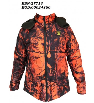 ORANGE CAMOUFLAGE SLİM COAT